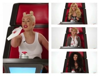 Christina Aguilera impersonates every female singer ever. And insults a couple.