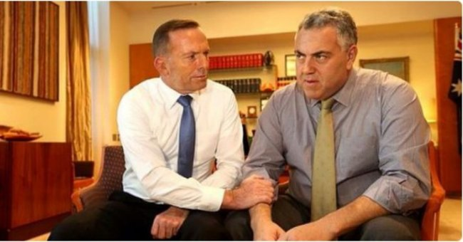 Joe Hockey and Tony Abbott FB
