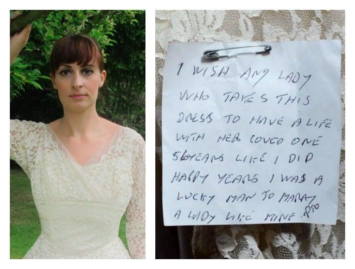 Note wedding dress feature