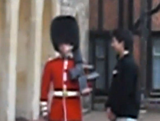 do not touch the queen's guard