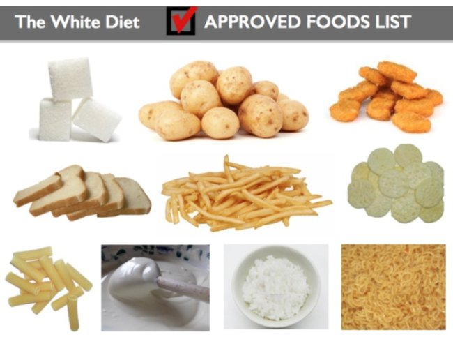 All kids love the white diet. Guaranteed.