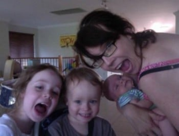 bec sparrow and kids