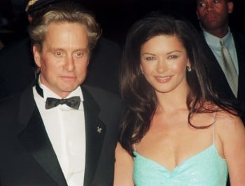 Catherine Zeta-Jones with her husband Michael Douglas; circa 1990; New York. (Photo by Art Zelin/Getty Images)