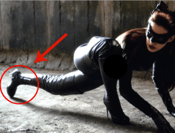 The key to saving lives as a female superhero? Wearing stilettos, apparently.