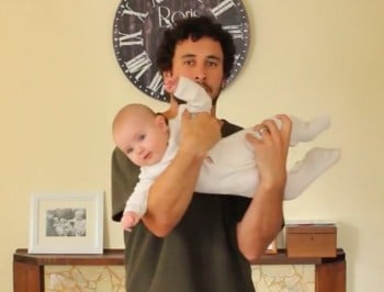 VIDEO: One dad, 17 different ways to hold a baby.