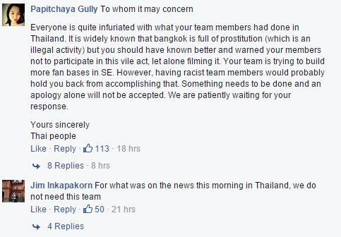 infuriated thai fans