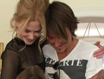 Nicole Kidman celebrates her anniversary with a loved-up video.