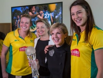 Julie Bishop: Why we need to celebrate women in sport.