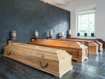 funeral caskets feature