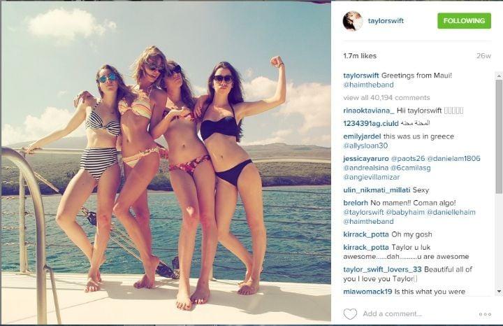 Taylor Swift Instagram bikini boat resize
