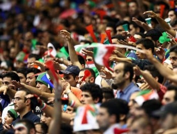 A scene from the FIVB Volleyball World League 2015 in Iran last month. (Photo: Getty Images)