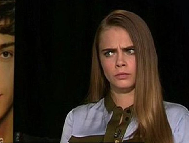 awkward cara delevingne interview