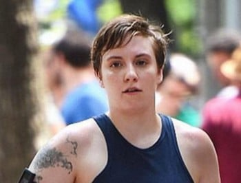 "Lena Dunham: ""Not usually one to post a paparazzi shot but this fills me with pride."""
