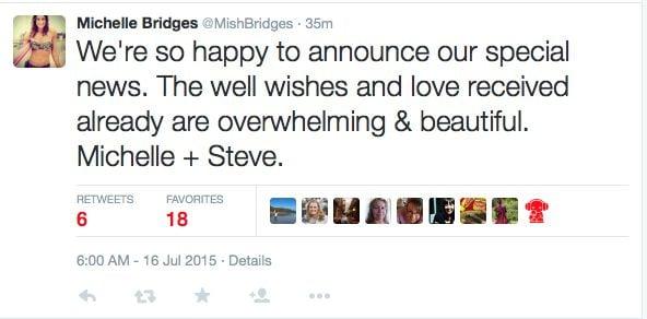 michelle bridges willis baby