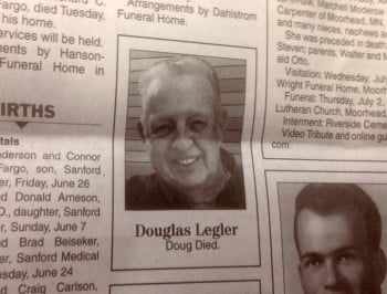 The shortest obituary ever printed.