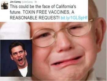 Jim Carrey used a stolen photo of an autistic boy in his anti-vaxx rant. The boy