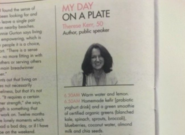 therese kerr my day on a plate