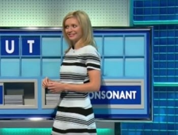 The moment a TV game show accidentally spells out a naughty word.