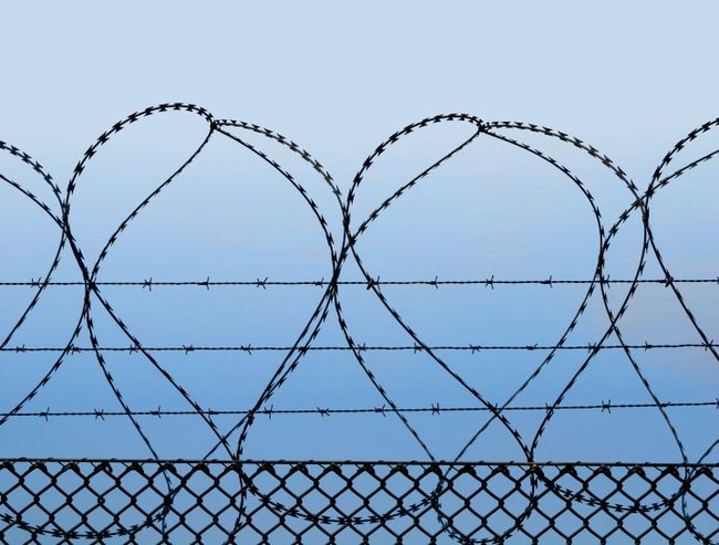 detention centre barbed wire