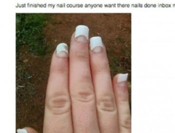 Would you trust this woman with your manicure?
