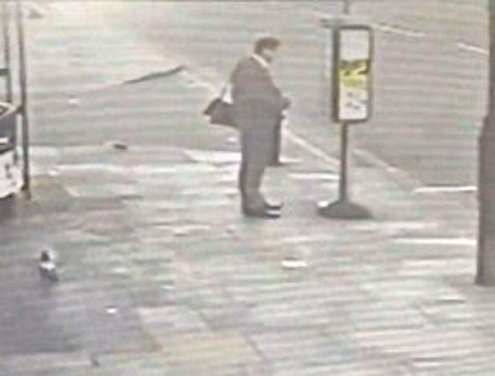man cheats death at bus stop