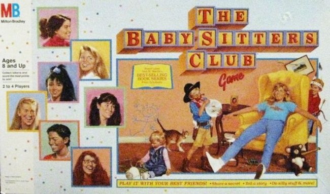 the Baby-Sitters Club Board game