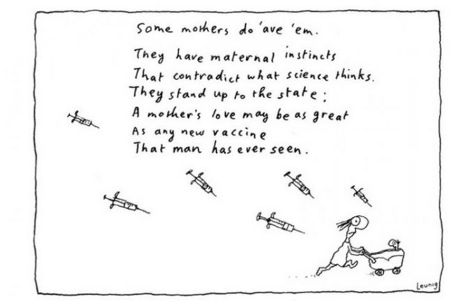 leunig anti-vaxx cartoons