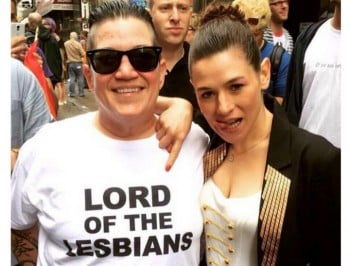 Lea DeLaria from Orange is the New Black strips off to encourage self-acceptance.