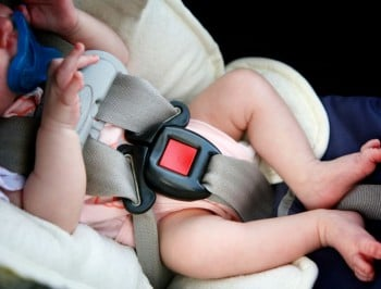 Baby in car seat feature