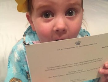Pixie Curtis got a letter from Princess Mary. Yes, really.