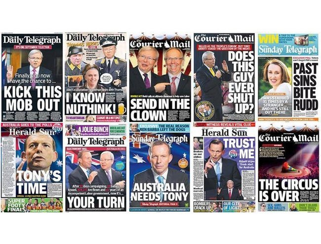 Daily Tele front pages 720x547
