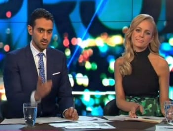 The moment Carrie Bickmore cried on The Project last night.