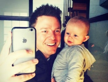 Ben Fordham celebrating his first Father's Day with his son Freddy. Image via Instagram.