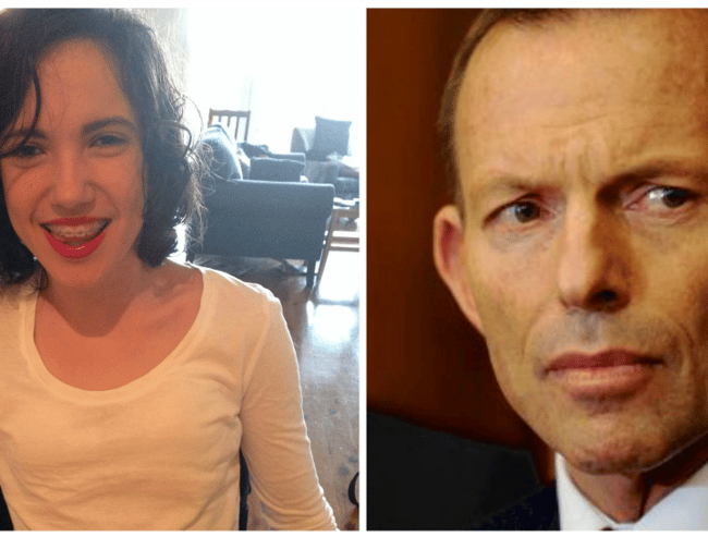 'I'm only 16, but I have an important message about domestic violence for you, Mr Abbott.'
