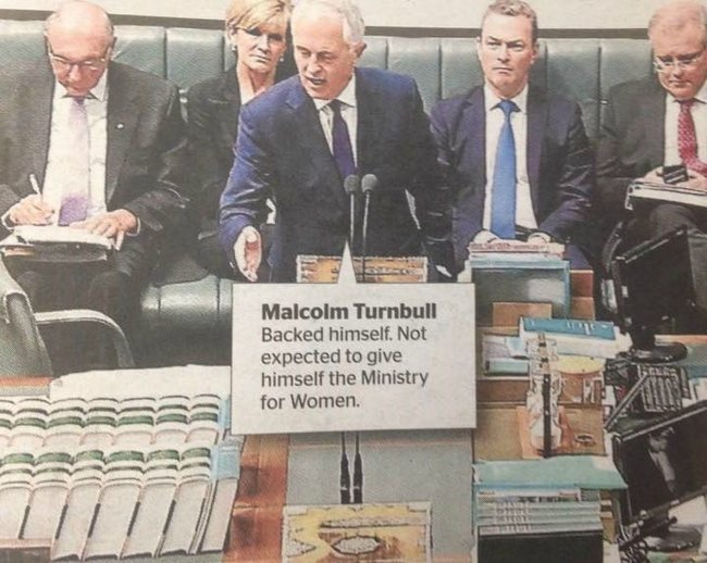 Malcolm Turnbull Minister for Women 720x546