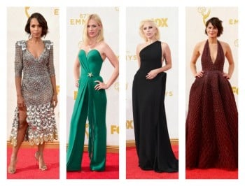 The Emmys is on. The dresses are here.