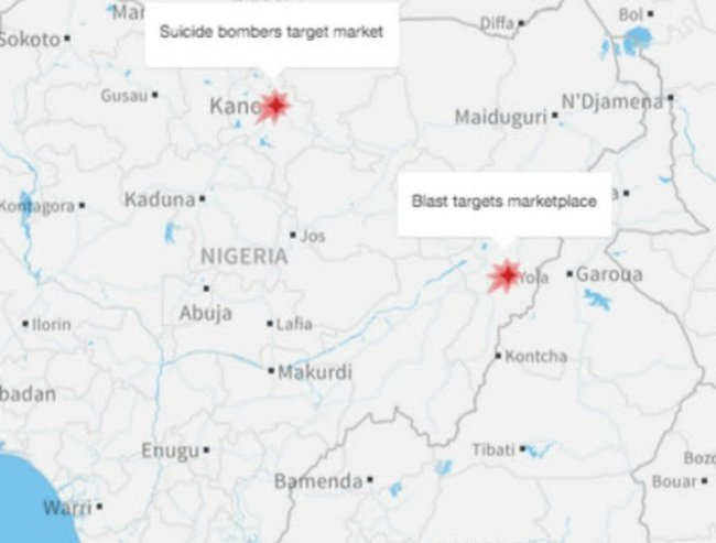 bombings in kano and yola