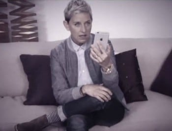 "Ellen perfectly describes the ""emotional roller-coaster"" of the iPhone texting bubbles."
