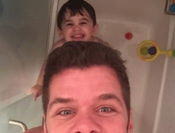 A little boy had a shower with his dad on the weekend and it made headlines.