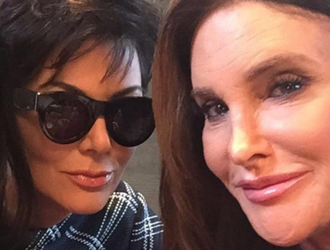 kris jenner reaction to caitlyn jenner