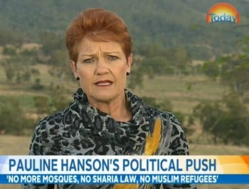 Pauline Hanson tells Karl Stefanovic that she has never said a racist word in her life.
