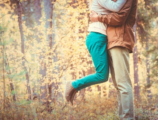 Couple Man and Woman hugging in Love Romantic Outdoor Lifestyle with nature on background Fashion trendy style