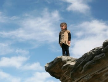 child on cliff