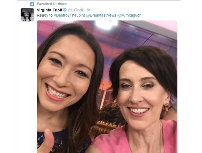 we love virginia trioli and kumi taguchi on news breakfast