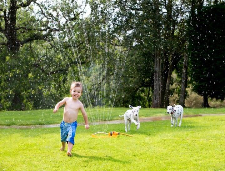 boy backyard playing 2