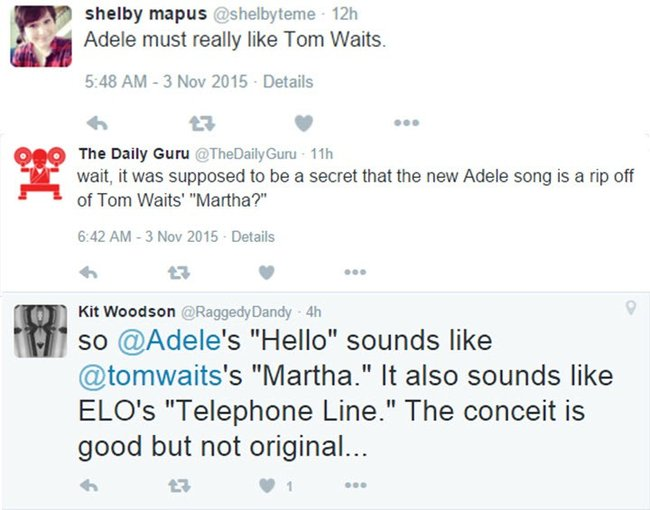 Adele rip off Tom Waits