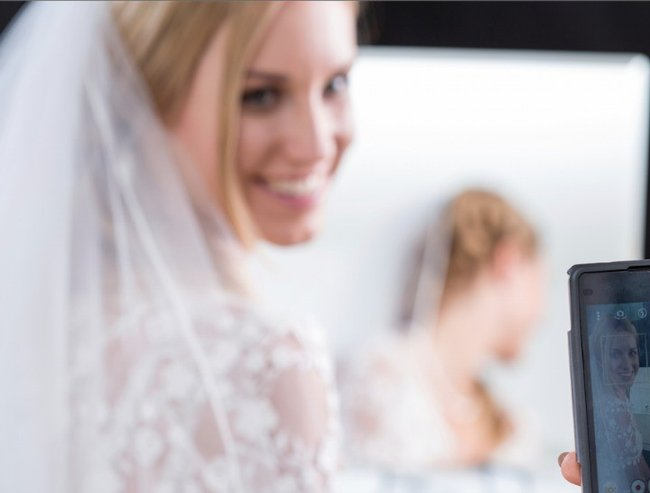 bride and phone feature