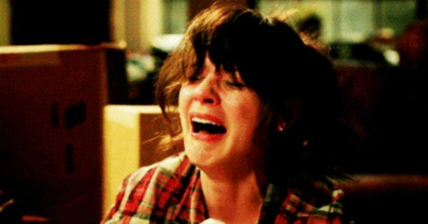 Jess from new girl crying