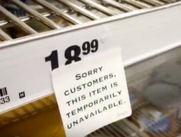 formula shortage