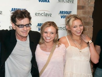 Charlie Sheen and bree lsen three